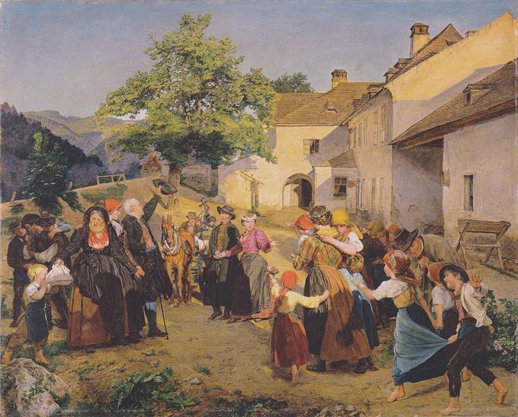 Farewell to the bride, 1860 - Ferdinand Georg Waldmüller
