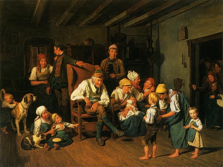 Grandfathers Birthday, 1849 - Ferdinand Georg Waldmüller