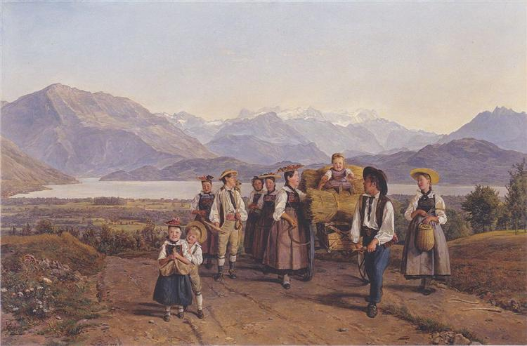 Homecoming from the harvest (On Lake Zug), 1844 - Ferdinand Georg Waldmüller