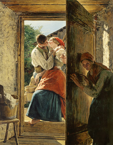 Love Surprise, 1858 - Ferdinand Georg Waldmüller