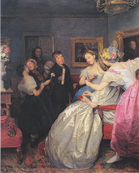 Poor wishers, 1861 - Ferdinand Georg Waldmüller