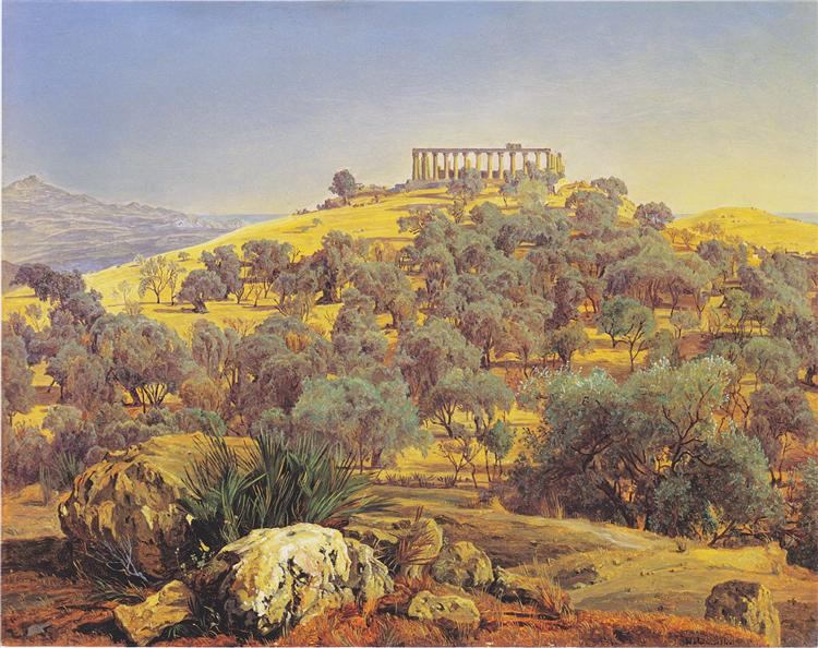 Ruins of the Temple of Juno at Girgenti Lancinia, 1845 - Ferdinand Georg Waldmüller