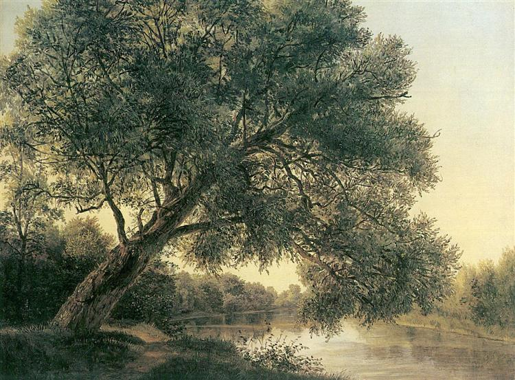 Tree by the brook, c.1831 - Ferdinand Georg Waldmüller