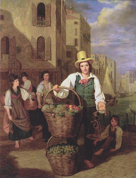 Venetian fruit seller, 1826 - Ferdinand Georg Waldmüller