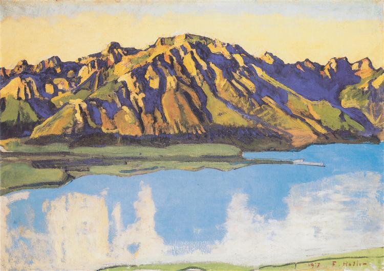 The Grammont in the morning sun, 1917 - Ferdinand Hodler