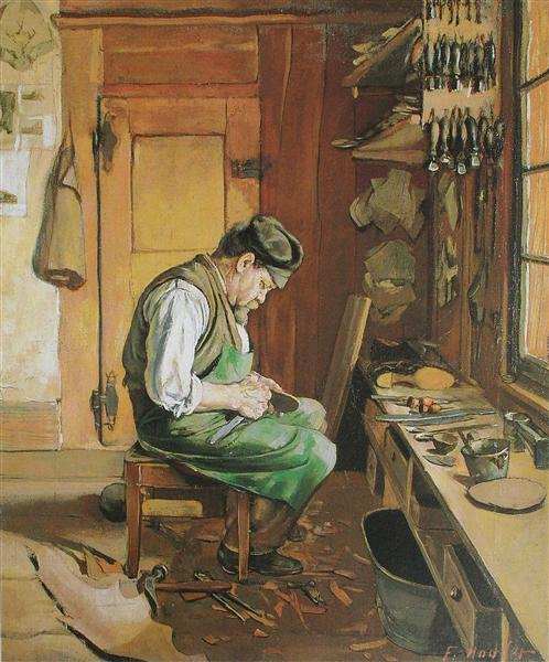 The shoemaker, 1878 - Ferdinand Hodler