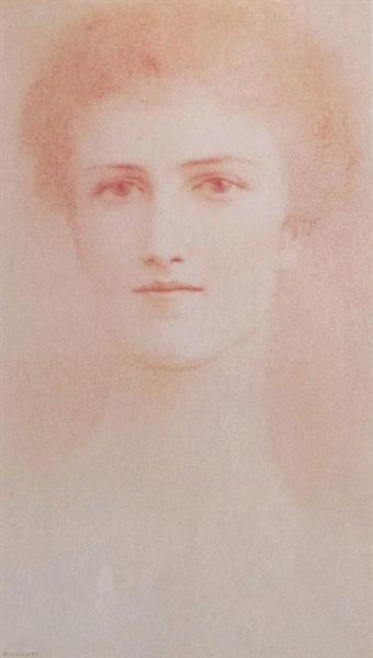 Baroness Fernand van der Bruggen, 1900 - Fernand Khnopff