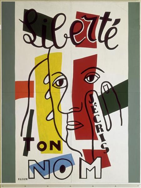 Freedom, I write your name, 1953 - Fernand Leger
