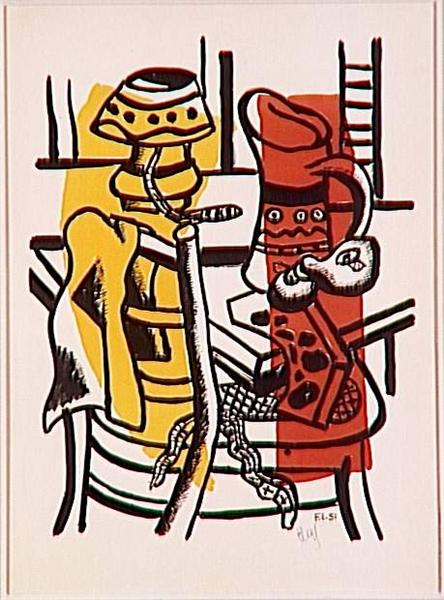 The chair (membership to the lamp, the lamp still life), 1955 - Fernand Léger