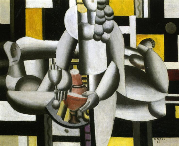 Two Women and still life 1st state, 1920 - Fernand Leger