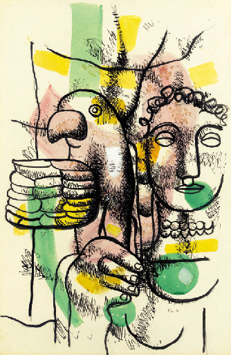 Woman with Parrot, 1941 - Fernand Leger