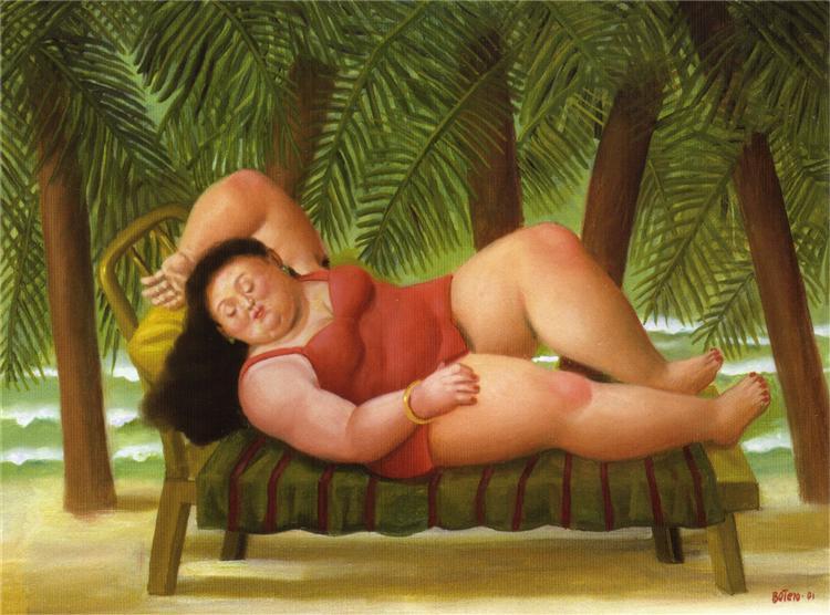 Bather on the Beach, 2001 - Fernando Botero