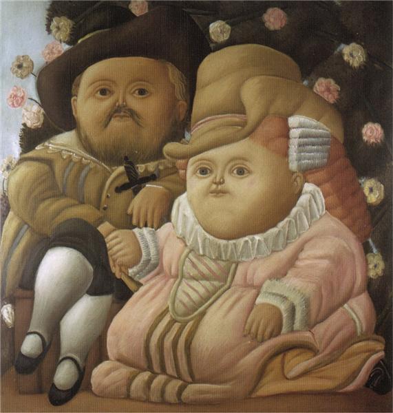 Rubens and His Wife, 1965 - Fernando Botero