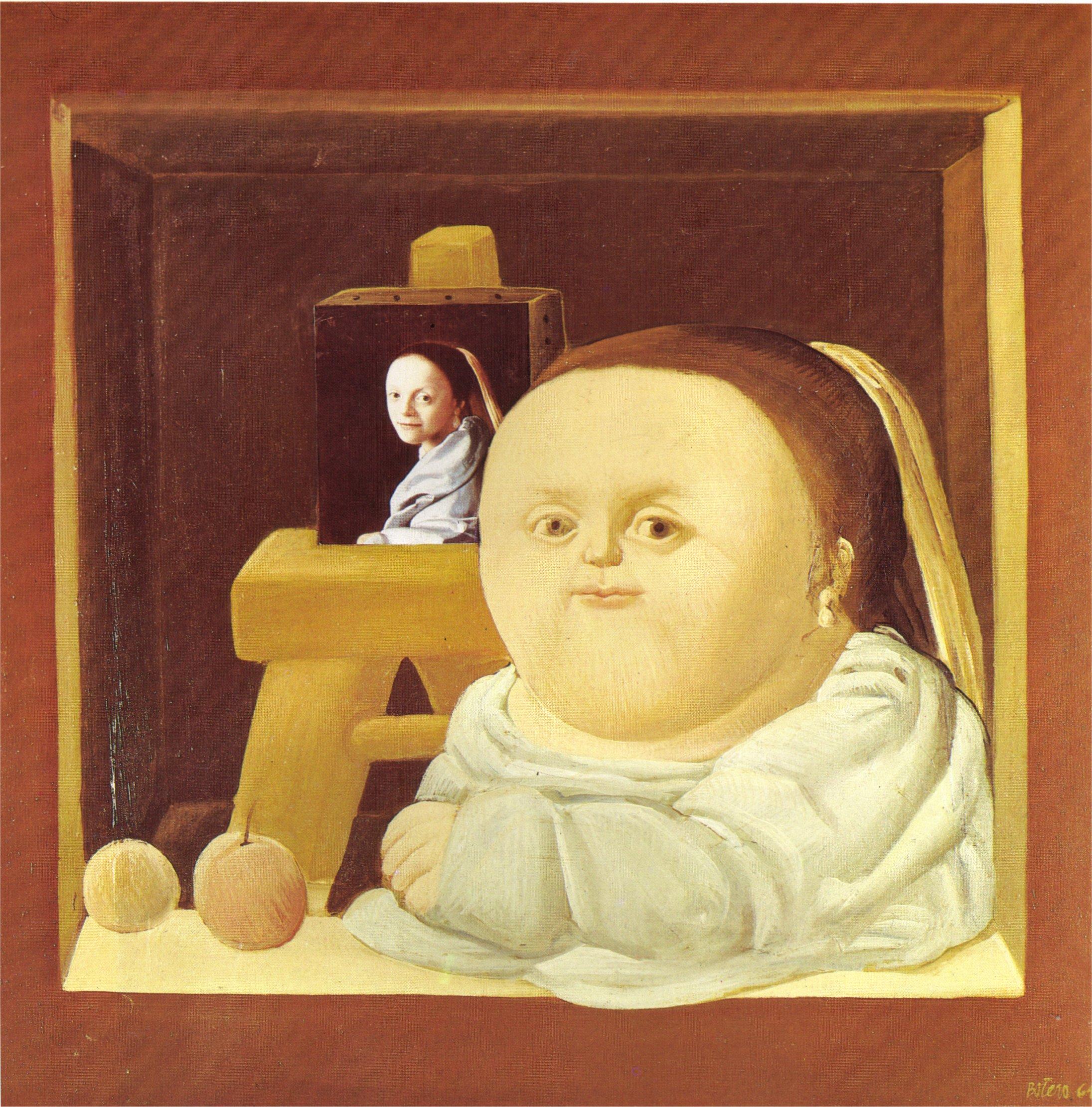 Célèbre The Study of Vermeer, 1964 - Fernando Botero - WikiArt.org YZ23