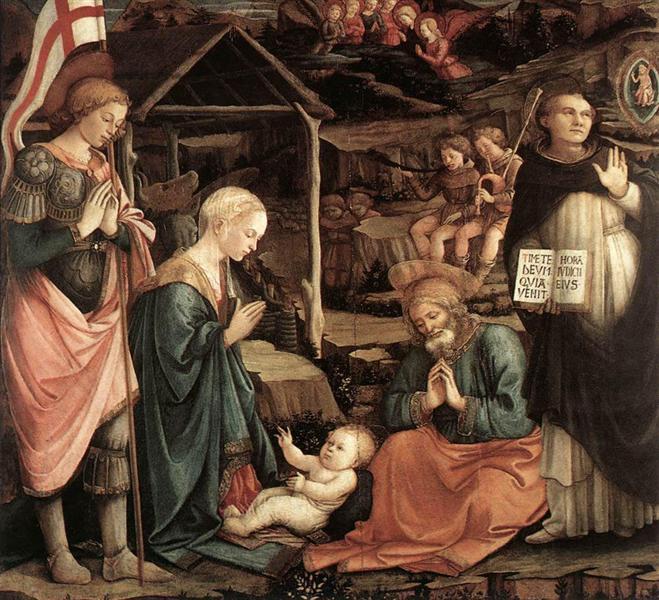 Adoration Of The Child With Saints, 1460 - 1465 - Filippo Lippi