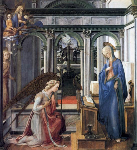 Annunciation, c.1443 - Філіппо Ліппі