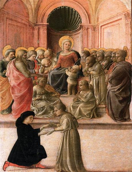 Madonna and Child with Saints, Angels and a Donor, c.1437 - Filippo Lippi