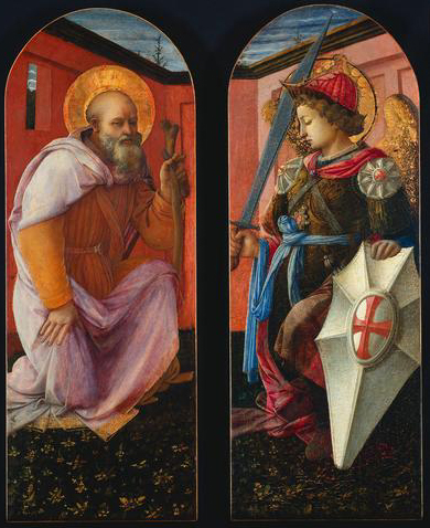 Saint Anthony and Archangel Michael, 1456 - Filippo Lippi