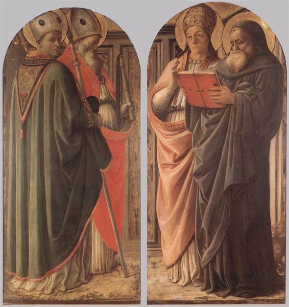 The Doctors of the Church, 1437 - Filippo Lippi