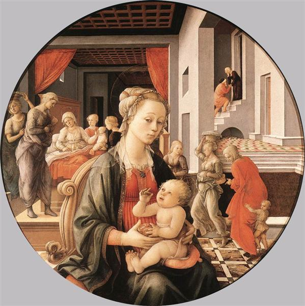 Virgin with the Child and Scenes from the Life of St. Anne, 1452 - Filippo Lippi