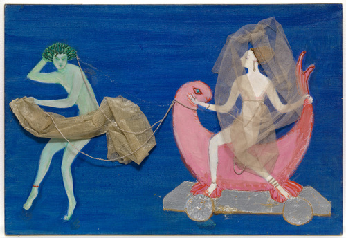 "Costume design (Aphrodite on a Dolphin...) for artist's ballet ""Orphée of the Quat-z-arts"" - Florine Stettheimer"