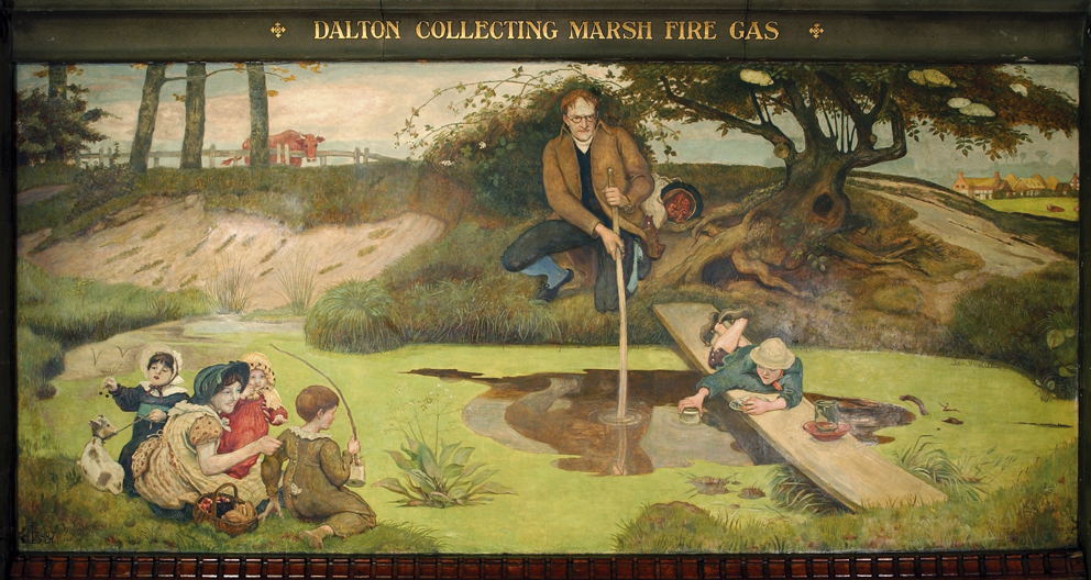 Dalton Collecting Marsh Fire Gas, 1879-1893