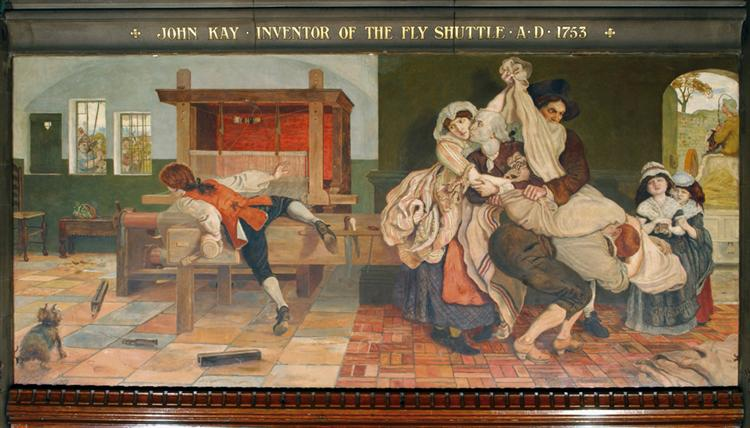 John Kay, Inventor of the Fly Shuttle - Ford Madox Brown