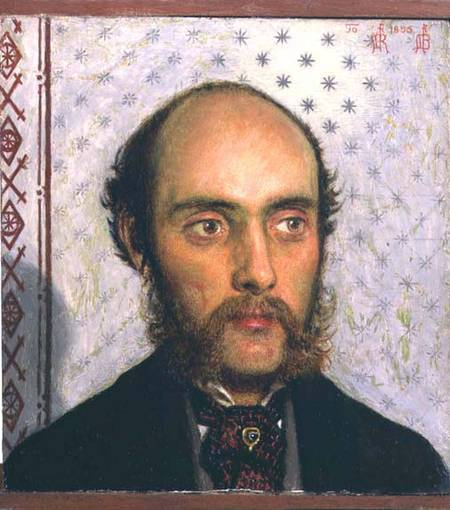 Portrait of William Michael Rossetti (1829-1919) by Lamplight, 1856