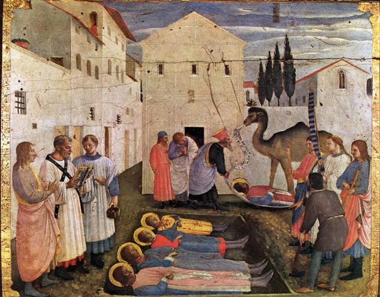 Sepulchring of Saint Cosmas and Saint Damian, 1438 - 1440 - Fra Angelico