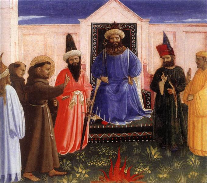 The Trial by Fire of St. Francis before the Sultan, c.1429 - Fra Angelico