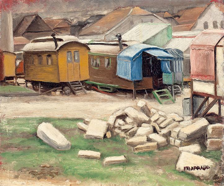 Les roulottes, 1934 - François Barraud