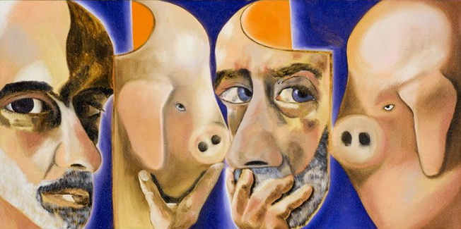 Self-Portrait with and without the Mask - Francesco Clemente