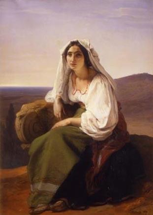 Woman from Ciociaria - Francesco Hayez