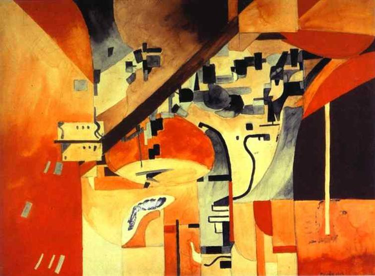 New York as Seen from Across the Body, 1913 - Francis Picabia