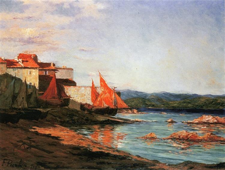 Thepointofthe portofSaint-Tropez, 1900 - Francis Picabia