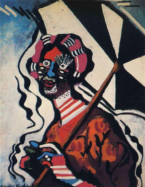 Young Woman with an Umbrella - Francis Picabia
