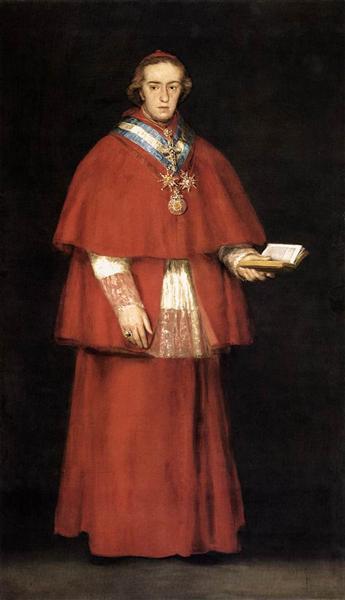 Cardinal Luis Maria de Borbon y Vallabriga, 1798 - 1800 - Francisco Goya