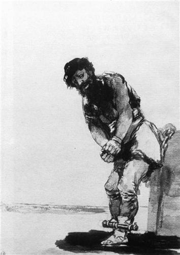 Chained Prisoner - Francisco Goya
