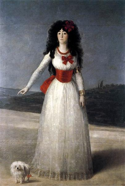 Duchess of Alba, The White Duchess, 1795 - Francisco de Goya