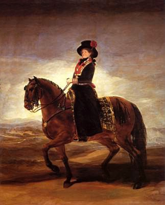 Equestrian portrait of Maria Luisa of Parma, 1788 - Francisco Goya