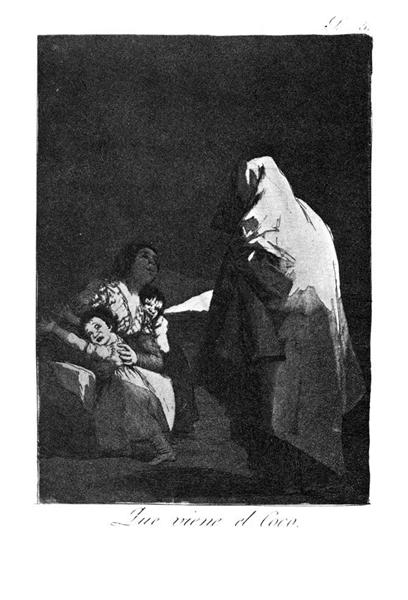 Here comes the bogey-man, 1799 - Франсіско-Хосе де Гойя