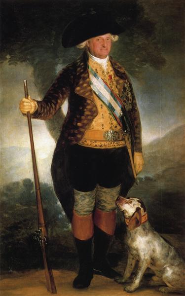 El rey Carlos IV en traje de caza , 1799 - Francisco de Goya