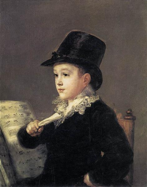 Portrait of Mariano Goya, 1812 - 1814 - Франсиско де Гойя