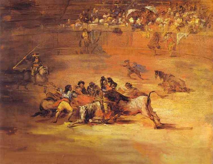 Scene of a bullfight, 1824 - Francisco Goya