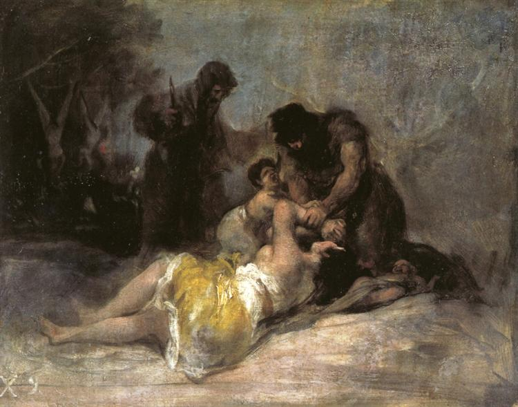 Scene of Rape and Murder, 1808 - 1812 - Франсіско-Хосе де Гойя