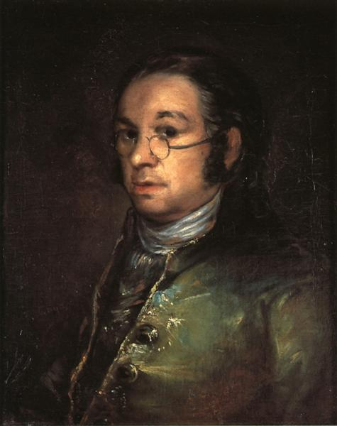 Self portrait with spectacles, c.1801 - Francisco Goya