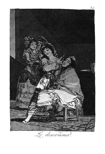She leaves him penniless, 1799 - Francisco Goya