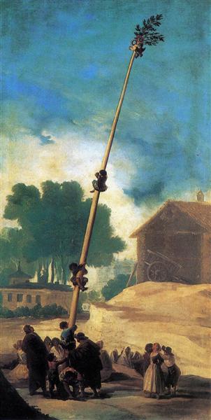 The Greasy Pole, 1786 - 1787 - Francisco Goya