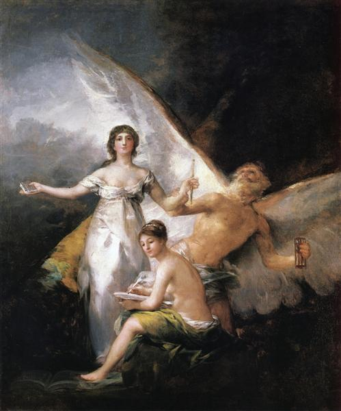 Truth Rescued by Time, Witnessed by History, 1812 - 1814 - Francisco Goya