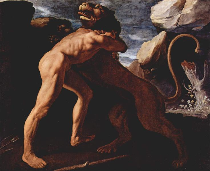Hercules Fighting with the Nemean Lion, 1634 - Francisco de Zurbaran